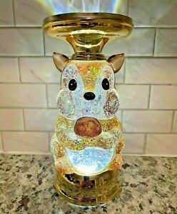 Bath Body Works Fall 2021 Squirrel Water Globe Pedestal Candle Holder   NIB