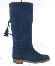 0193d695072a WE DO bottes cavalières plates cuir daim bleu marine P 36 TBE