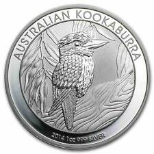 New 2014 Australian Silver Kookaburra 1oz Bullion Coin (Encapsulated by Mint)