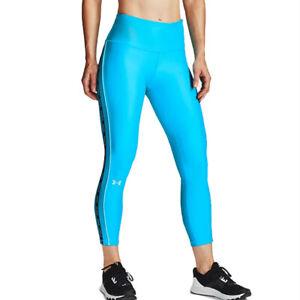 Under Armour Blue 7/8 Leggings UA HeatGear Ladies Blue Sports Running WMT