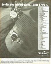 PUBLICITE ADVERTISING 056  1982  la montre Tissot PR 100