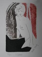 Claude NICAUD gravure femme nue  L'INSTANT  60/100 signé