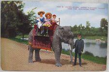 1913 Riding a Indian Elephant Gunda in Zoological Park, NY