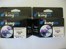 2 PK Compatible Inks for HP 60 black & colour ink cartridges fits F4210 4400