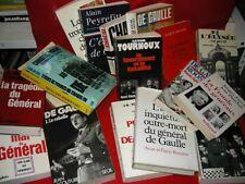 LOT DE 18 LIVRES SUR CHARLES DE GAULLE !!!