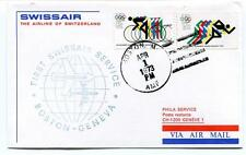 FFC 1973 Swissair First Flight Boston Geneve XXOlimpic Winter Games Munich