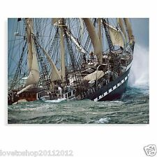 Innova Glass Art Belim Tall Ship Multi-Coloured 60cm x 80cm- FR04033