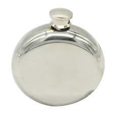 Men 5oz Round Stainless Hip Flask Alcohol Bottle Whisky Outdoor Smooth Shot Pot