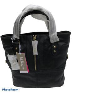 Kipling New Yindi in Black Vintage Leather Hand / Shoulder bag