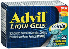 Advil Liqui-Gels Minis Ibuprofen 200mg Pain Reliever/Fever Reducer Capsules 20ct