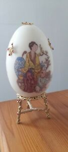 Chinese, egg,diamante,decorated,gold, on stand, beautiful, ornate