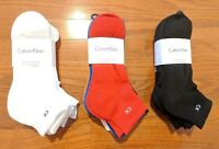 Calvin Klein 6 Pairs Pack Cushioned Sole Quarter Polyester Socks