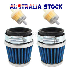 2x 38mm Air Filter Pod Cleaner 110cc 125cc Motorcycle PIT Quad Bike ATV Buggy