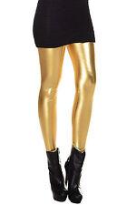 Metallic WeLook Liquid Leggings Shiny Stretch Women Pencil Pants gold TS