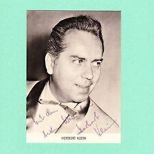Ansichtskarte Autogramm Herbert Klein signiert Echt Foto DDR