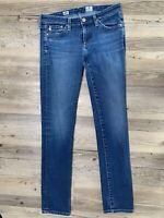 AG Adriano Goldschmied Skinny Blue Jeans Size 26 Stretch Stilt Cigarette Leg GUC