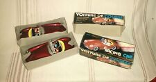 2 VINTAGE MODEL FRICTION RACING CAR CLASSIC VOITURE DE COURSE MF 763 w/ BOXES