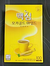 Korean Instant Coffee Mix MAXIM Mocha Gold Mild Instant Coffee Mix -100 Sticks