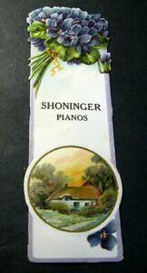Old Book Marker Advert. for Shoninger Pianos Estab. 1850  L398