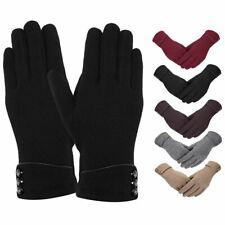Women Winter Fleece Lined Velvet Thermal Warm Gloves Touch Screen Mittens Gifts