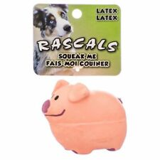 """LM Rascals Latex Pig Dog Toy - Pink 2.75"""" Long"""