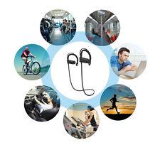 Neu Sport stereo drahtlose bluetooth Headset Kopfhörer Ohrhöre universal Schwarz
