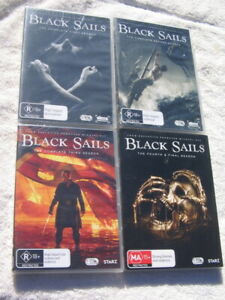 BLACK SAILS - THE COMPLETE 1ST to 4TH SEASONS - 4 x NEW DVD SETS