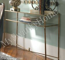 Neiman Marcus BARSTOW Console Table Glass Iron MINIMALIST Horchow Sofa Entry