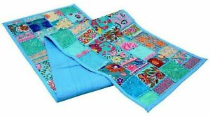 Indien Patchwork Turquoise Table Decor Dining Decoration Vintage Table Runner
