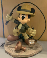 *NEW* Disney Parks Mickey Mouse As Indiana Jones Big Medium Figure Resin NIB