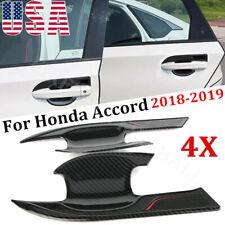 4pcs Carbon Fiber Style Door Bowl Handle Cover Trim for Honda Accord 2018-2020