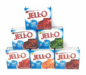 JELL-O Gelatin *SUGAR FREE* Dessert JELLO *Variation!* 0.30 to 2.0 oz (UK)