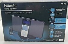 Hitachi KC - 90 Docking Radio Alarm For Older Style iPod + Remote Control Boxed