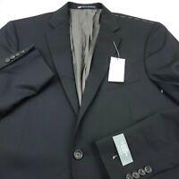 Hart Schaffner Marx Black Notch Lapel Wool Suit Separate Jacket Mens Size 42L