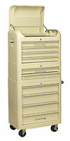 Sealey American RETRO Cream 10 Drawer Tool Storage Roller Box/Chest AP28COMBO2