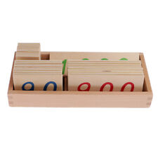 Montessori Wooden Number Cards with Box (1-1000)for kids Math Learning Small