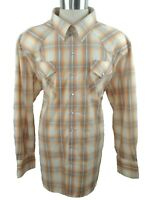 Mens Western Shirt Pearl Snap Size XXL Plaid Regular Long Sleeve High Noon