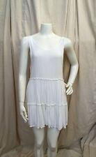 Brandy Melville White Cotton Tank Style Open Back Babydoll Flowy Dress O/S