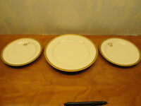 vintage 1 dinner plate and 2 salad plates made in France