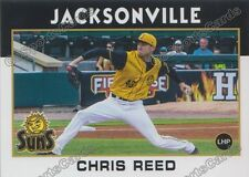2016 Jacksonville Suns Chris Reed RC Rookie Marlins England