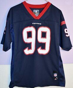 TEAM NFL J. J. WATT 99 HOUSTON TEXANS FOOTBALL JERSEY SHIRT YOUTH LARGE L BLUE