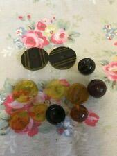 Mix Lot Vintage Bakelite Buttons - Variety Designs