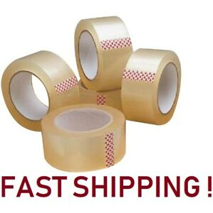 """10 ROLLS CLEAR PARCEL CARTON SEALING PACKING REMOVAL selotape TAPE 2""""48MM X 66M"""