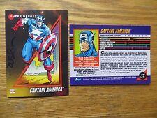 1992 IMPEL MARVEL UNIVERSE 3 CAPTAIN AMERICA CARD SIGNED TERRY AUSTIN ART, POA