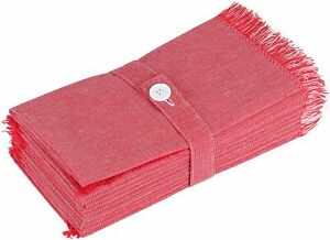 Sweet Needle Cloth Dinner Napkins - Double Tone with Frill 50x50 CM - Pack of 12