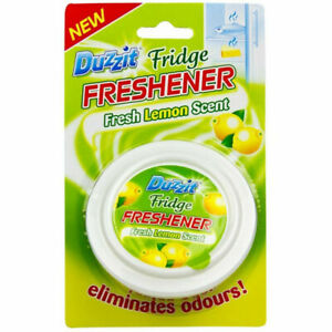 Fridge Freshener Lemon Deodoriser Air Fresh Kitchen Smell Scent Scented Duzzit