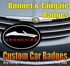 Chrysler Crossfire Roadster calandre et Hayon badges (Noir/Chrome/rouge)