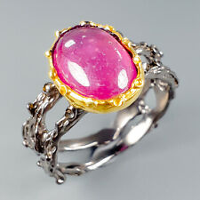 Handmade Natural Ruby 925 Sterling Silver Ring Size 8.5/R113670