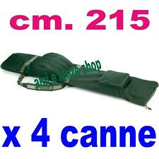 fodero portacanne da pesca carpfishing x 4 canne montate  mulinello carpa sacca