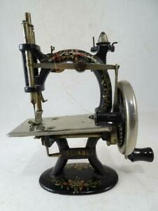 Antique Victorian Miniature Sewing Machine Reliable 1890s Vintage Children's Old